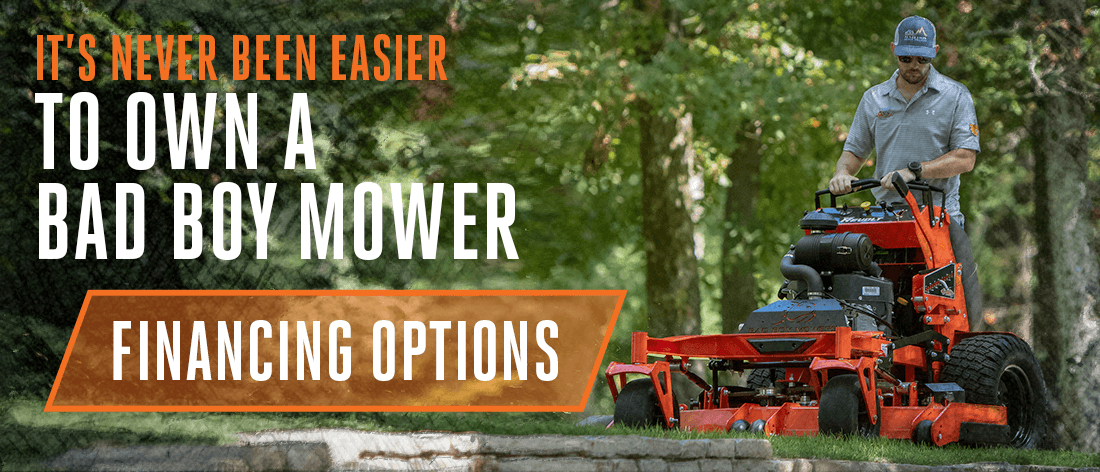 It's Never Been Easier To Own A Bad Boy Mower