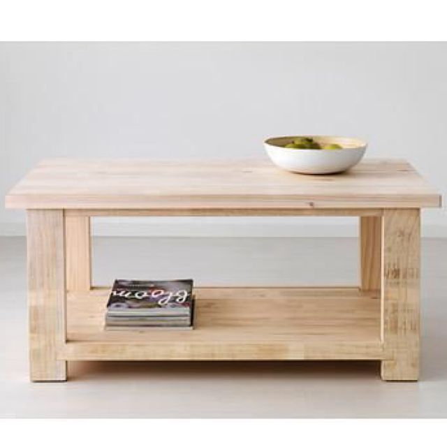 bnib ikea rekarne pine coffee table