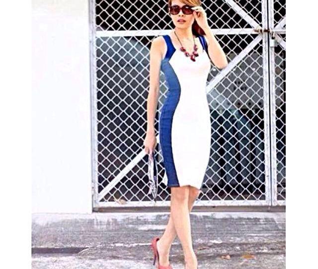 F F   Enf Look Quiana Hourglass Midi Dress Size M No Trades Womens Fashion On Carousell