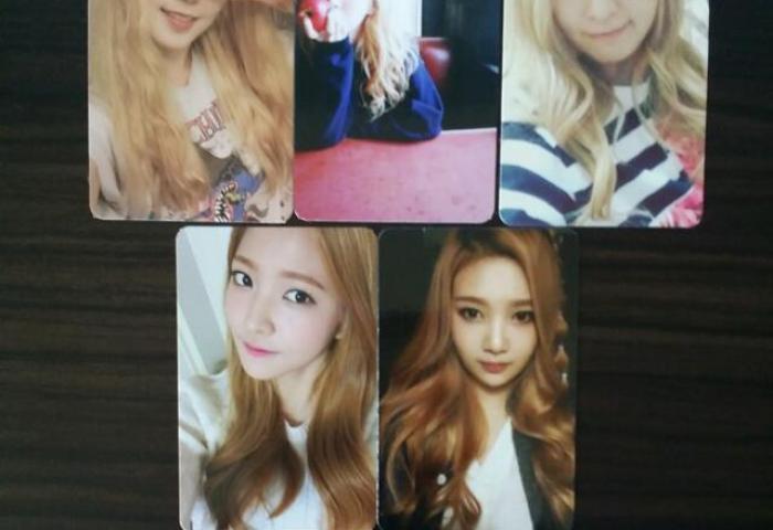 Red Velvet Ice Cream Cake Official Photocard Set Entertainment K