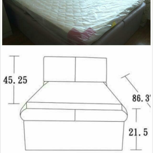 Brand New Hecom Seahorse Part Leather Solid Wood Storage Bed Frame Home Furniture On Carou