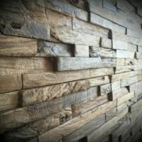 Reclaimed Wood Wall, Rustic Wall Panels, Decorative Wall ...