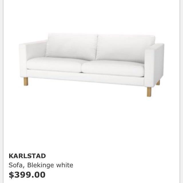karlstad sofa blekinge white convertible queen ikea furniture on carousell photo