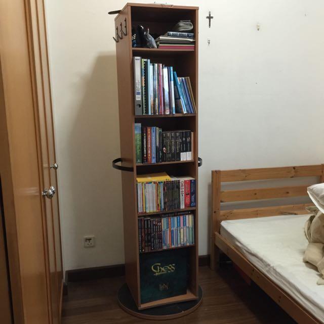 Ikea Kajak Rotating Swivel Shelf Storage Unit With Mirror