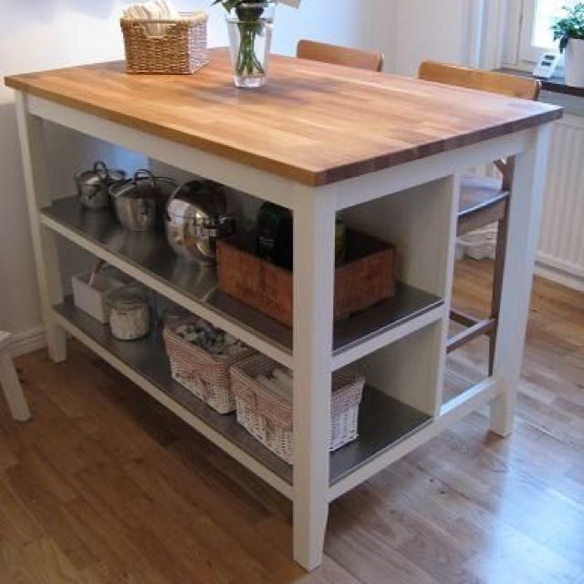 ikea kitchen island laminate flooring reserved stenstorp furniture on carousell