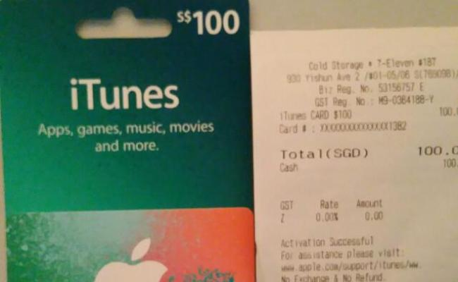 100 Itunes Gift Card Electronics On Carousell