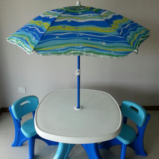 step2 kids patio table and chair set with umbrella