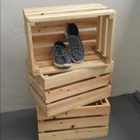 Wooden Crate / Wooden Box / Wood Decor, Furniture, Shelves ...