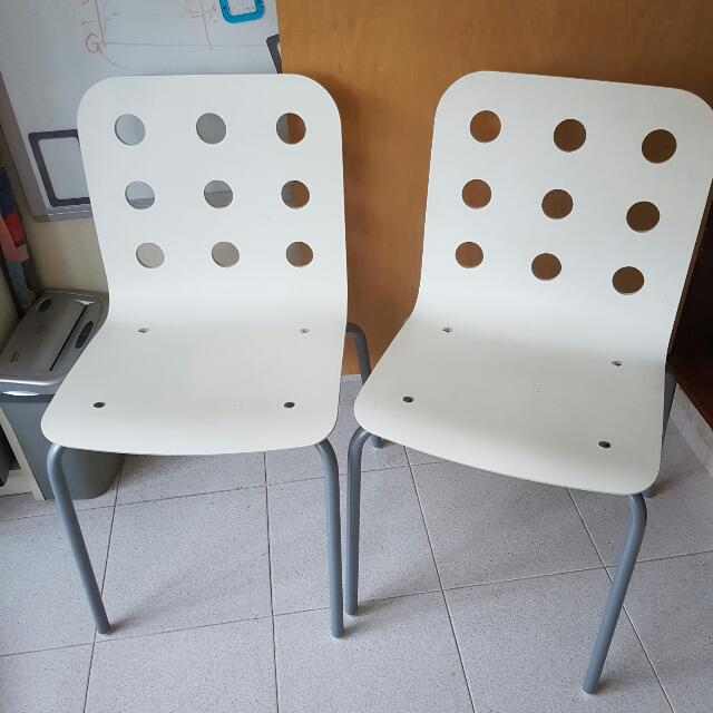 ikea jules chair cool swing chairs for your room white wooden with steel legs model 13755 furniture on carousell