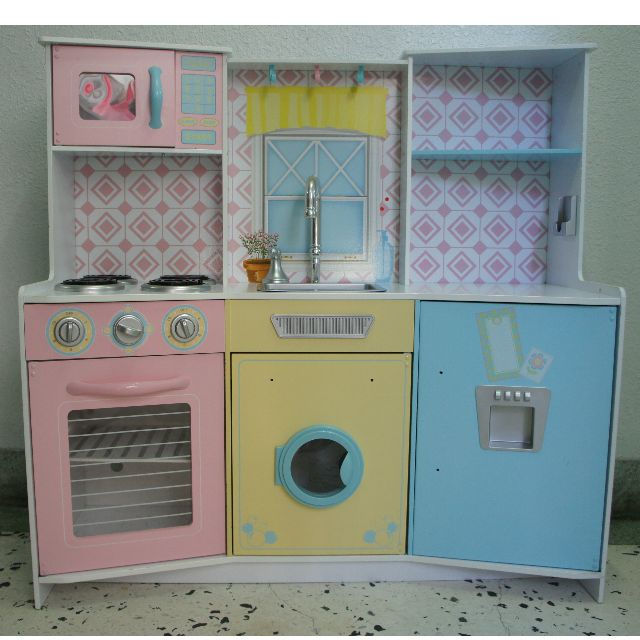 costco kitchen vintage accessories kidkraft 甜點粉彩廚房組costco好市多 photo