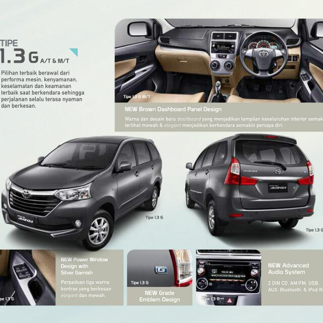 grand new avanza warna hitam all kijang innova 2.0 q at tipe e 1300cc m t cars for sale on carousell photo