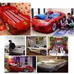 Children Bed Frame Sport S Car With Led Lights Furniture Beds Mattresses On Carousell