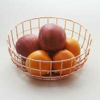 Rose Gold Wire Metal Fruit Basket, Home Appliances on ...