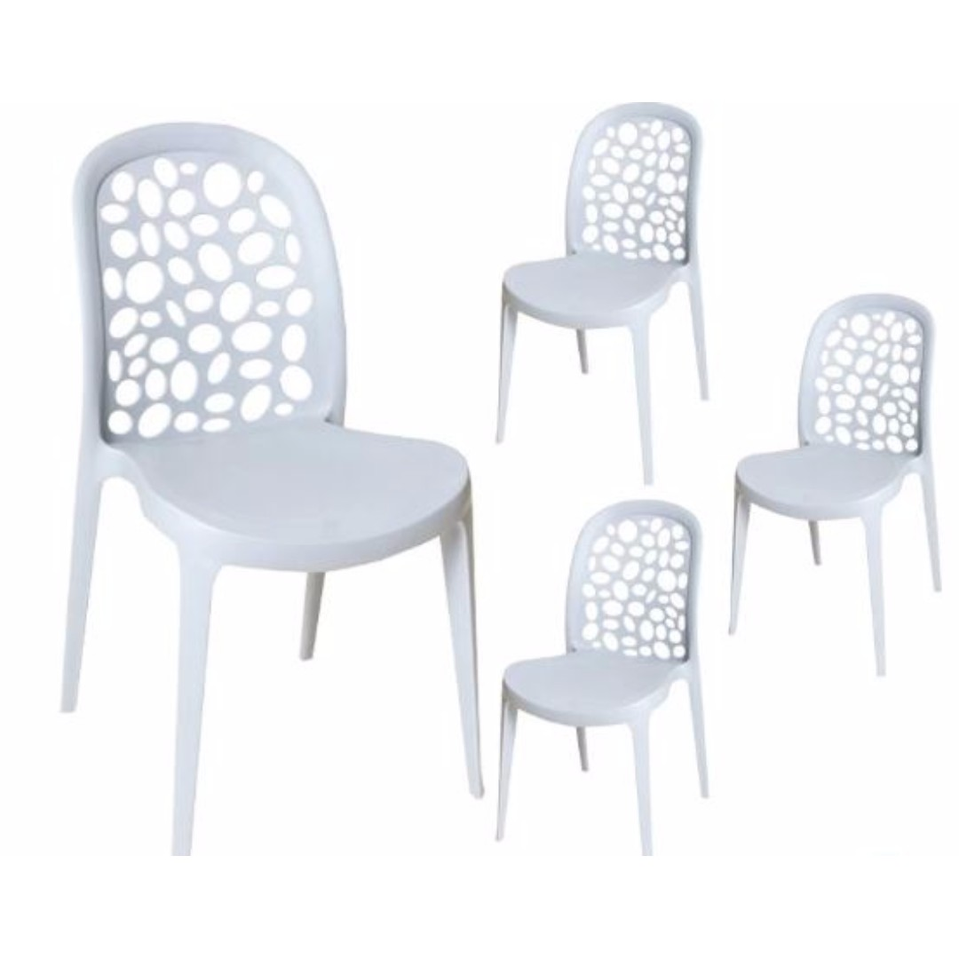 White Stackable Chairs Designer Pp Stackable Chairs White