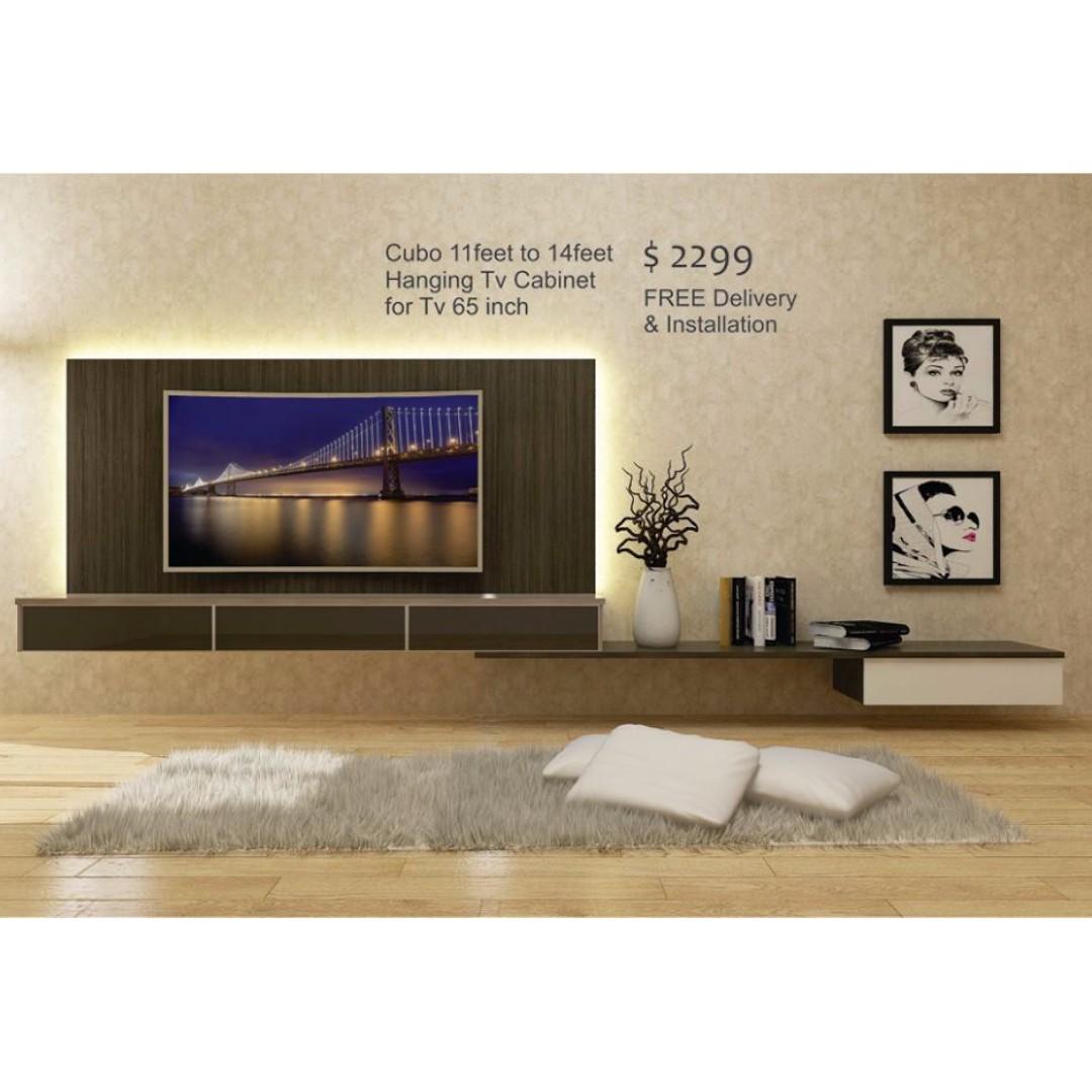Extendable Hanging Tv Cabinet, Furniture, Shelves