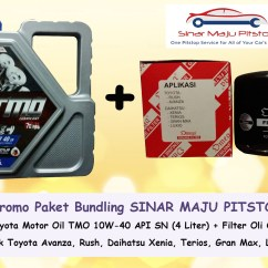 Oli Mesin Grand New Avanza Modifikasi Putih Paket Bundling Mobil Tmo 10w 40 And Filter