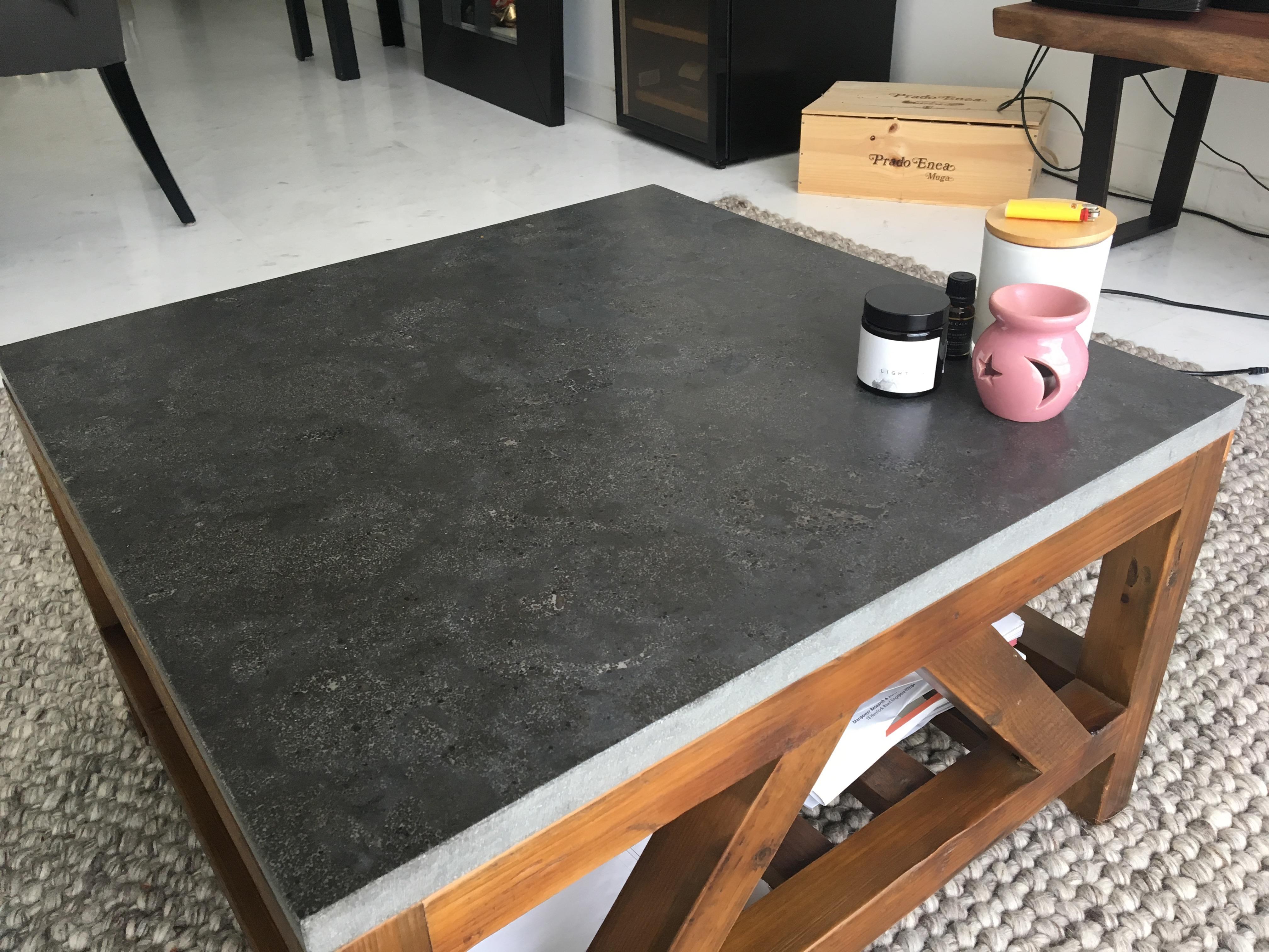 coffee table crate barrel bluestone square