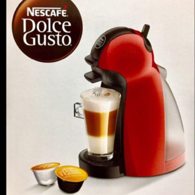 NESCAFÉ 雀巢膠囊咖啡機 Piccolo(紅)_附6顆咖啡膠囊. 家電電器. 廚房家電在旋轉拍賣