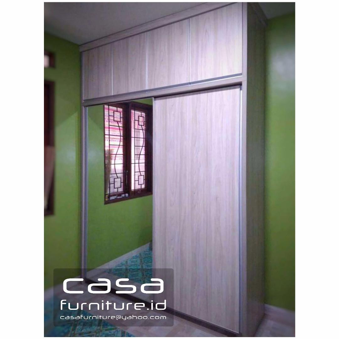 Lemari pakaian minimalis custom finishing Hpl Home