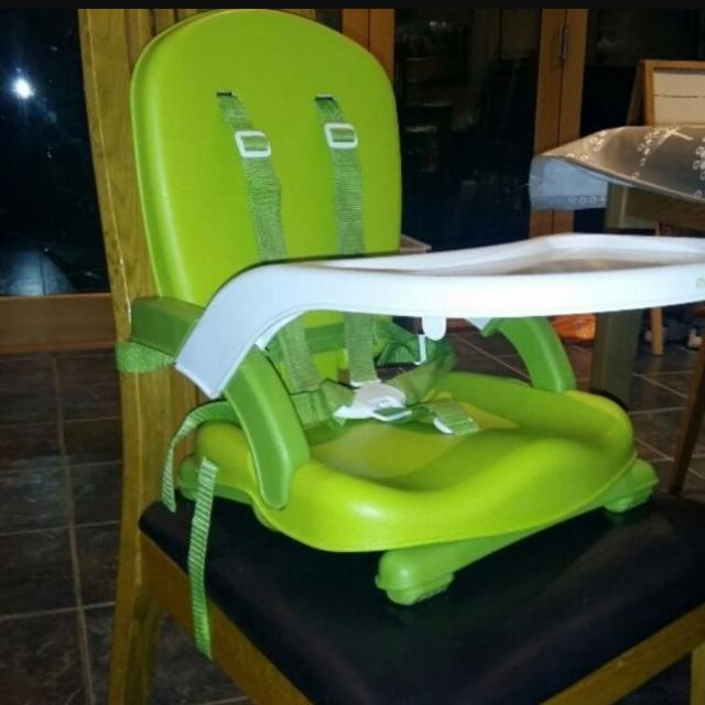 mothercare travel high chair booster seat lime green recliner portable babies kids nursing feeding on carousell
