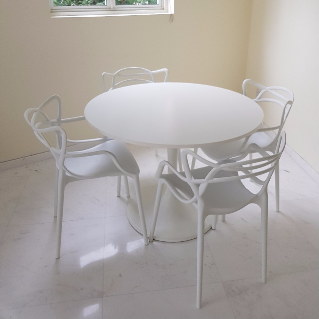 design chair kartell chicago bears folding chairs white round dining table sold alone or as bundle with masters designer 4 can also be used patio furniture