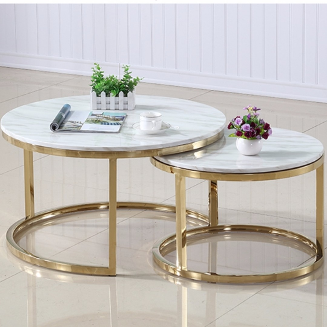 scandinavian marble coffee tea table simple modern living room table set