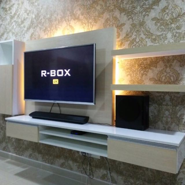 Kabinet tv moden Rumah  Perabot Others di Carousell