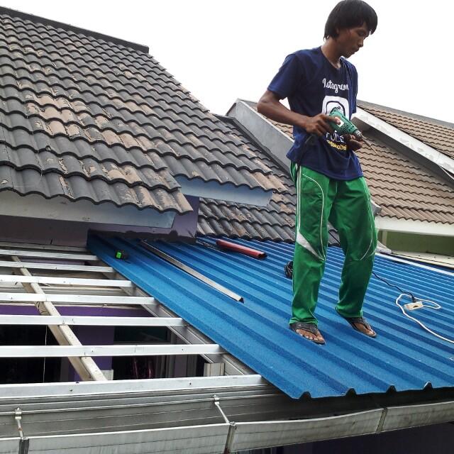 harga kanopi baja ringan atap spandek pasir berwarna home furniture