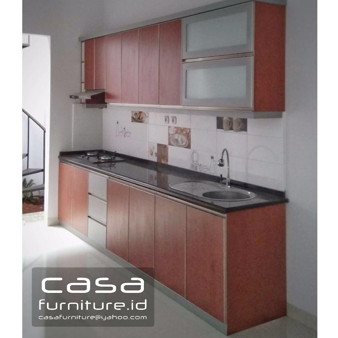 Kitchen Set Minimalis Model Lurus Top Table Granit Home