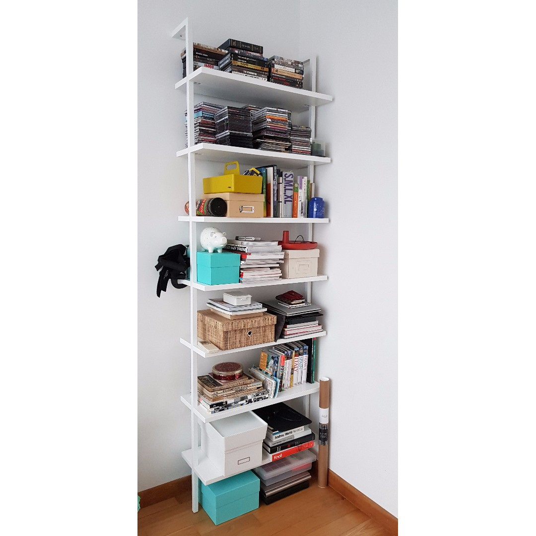 Cb2 Stairway White 96 Wall Mounted Bookcase Furniture