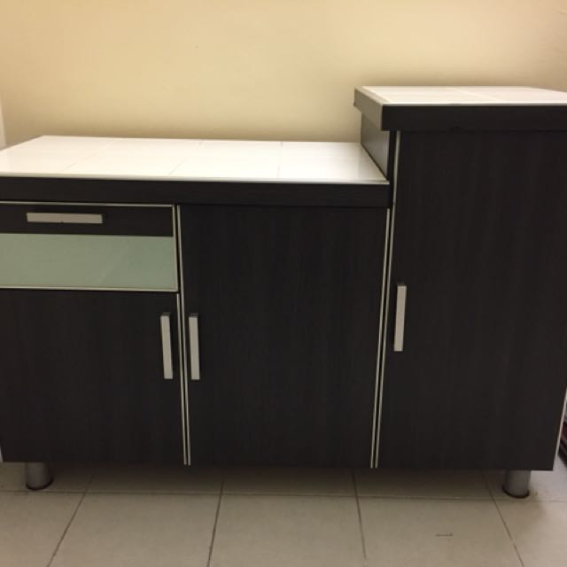 portable kitchen cabinet grey cabinets home furniture on carousell