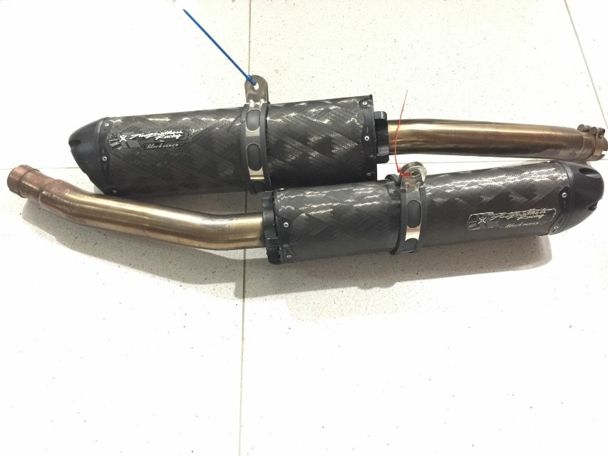 suzuki hayabusa gen 2 two brothers m 2 exhaust black series