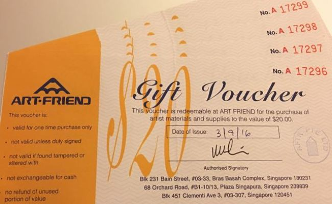 Art Friend Gift Vouchers 100 No Expiry Entertainment