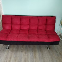 Courts Sofa Chesterfield Modern Bed Red From Furniture Sofas On Carousell Photo