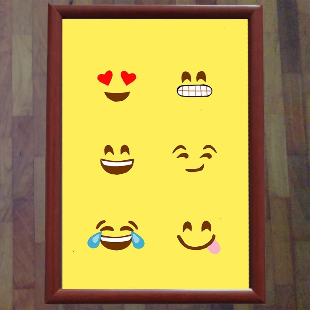 Emoji Wall Art Photo Frame Design Craft On Carousell | iltribuno.com