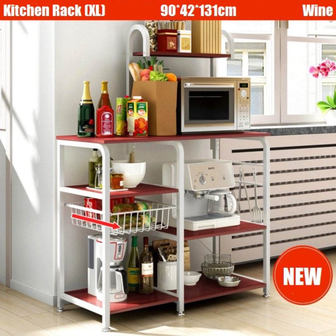 3 Colors EXTRA LARGE Kitchen Rack Storage Organizer Holder