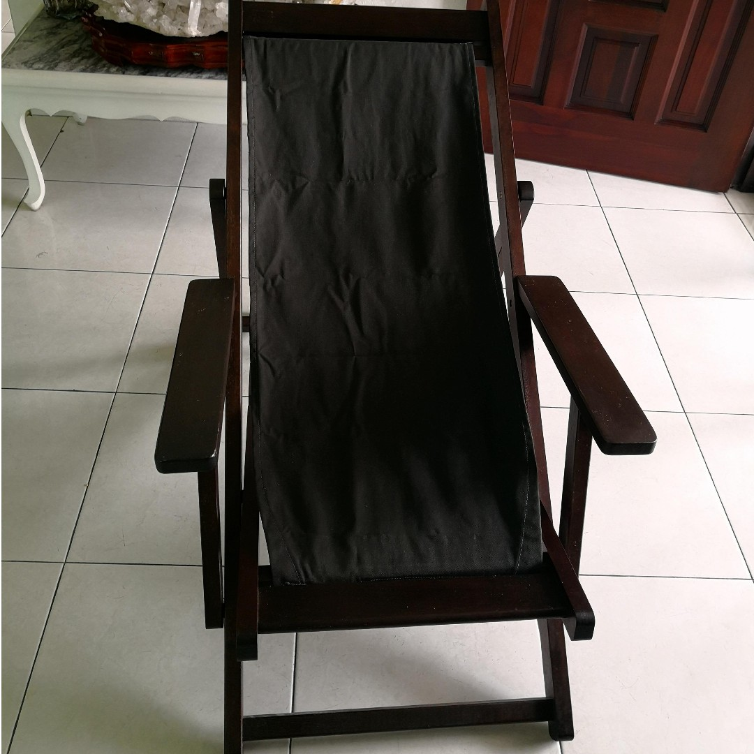 folding chair johor bahru outdoor patio wrought iron pad wooden resting home furniture on carousell