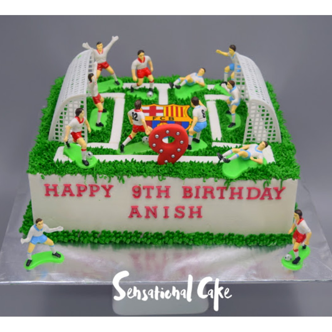 football birthday cakes for
