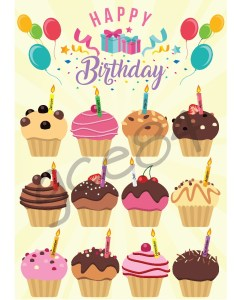 also classroom birthday chart cupcake design  craft others on carousell rh sgrousell