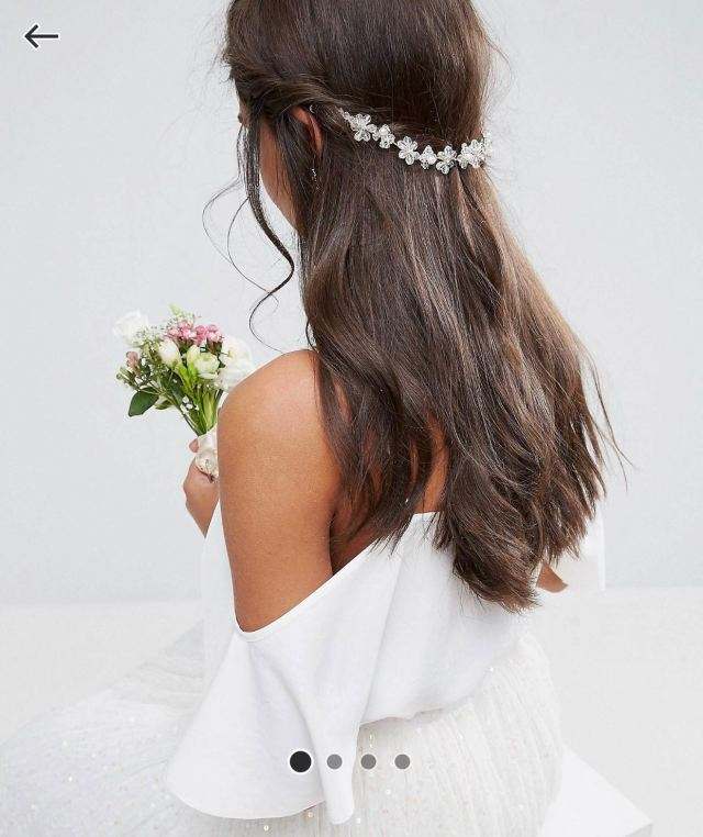 asos wedding flower back hair crown, women's fashion