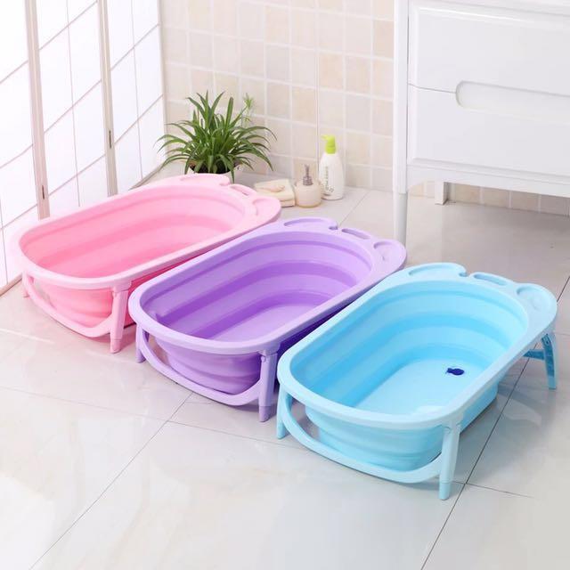 超慳位Bb沖涼摺疊浴盆 karibu, 兒童&孕婦用品, 其他 - Carousell