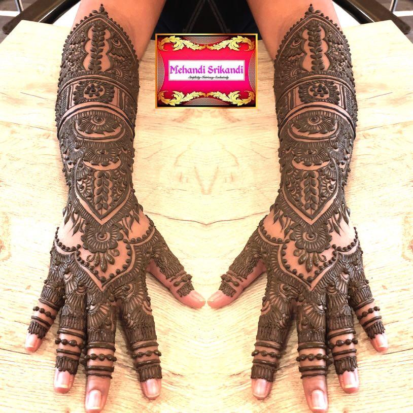 Henna Tangan Pengantin Full