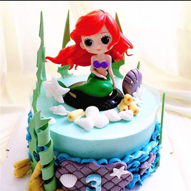 Disney Princess Little Mermaid Ariel Cake Topper Figurine Toy
