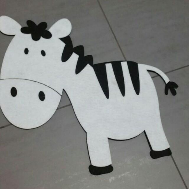 Zebra Craft Cloth Wall Decor New Babies Kids On Carousell