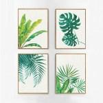 Boho Style Tropical Plant Set Canvas Like Frame Wall Art Home Furniture Home Decor On Carousell