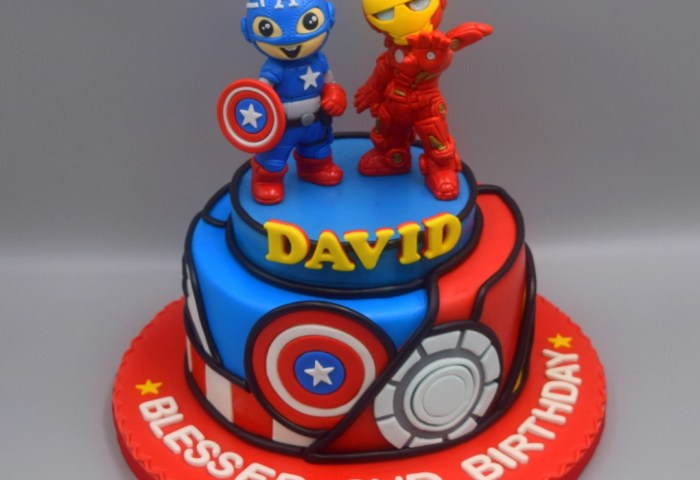 Captain America And Iron Man 3d Cake Great Detail Avenger Cake