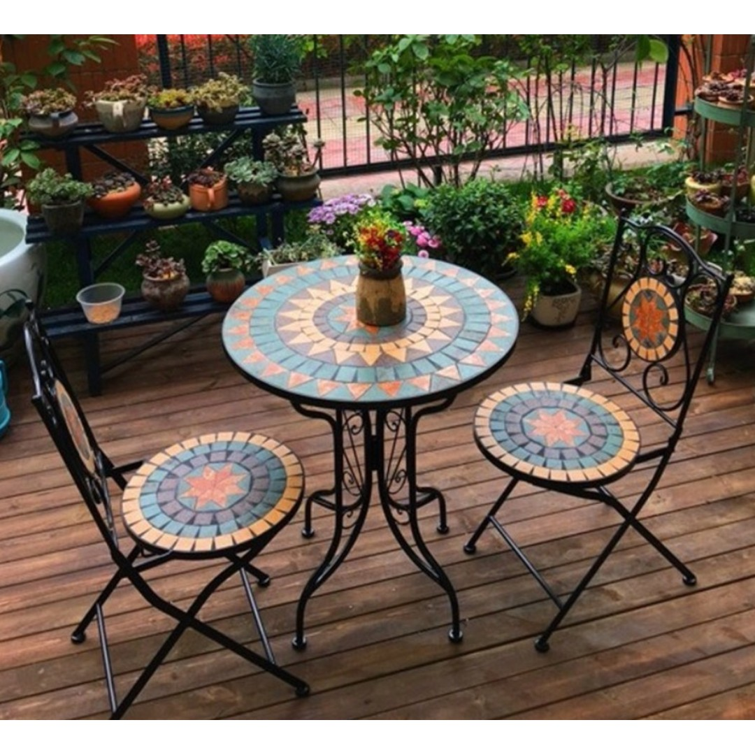 Patio Furniture Table And Chairs Outdoor Balcony Mediterranean Coffee Table And Chair
