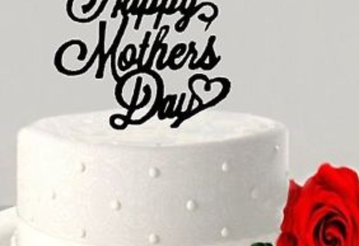 Customized Acrylic Wooden Mothers Day Cake Topper Cake