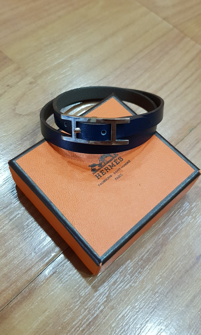 Hermes leather Bracelet. Men's Fashion. Accessories on Carousell