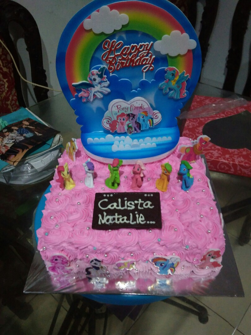 Bday Cake Little Pony Food Drinks Baked Goods On Carousell